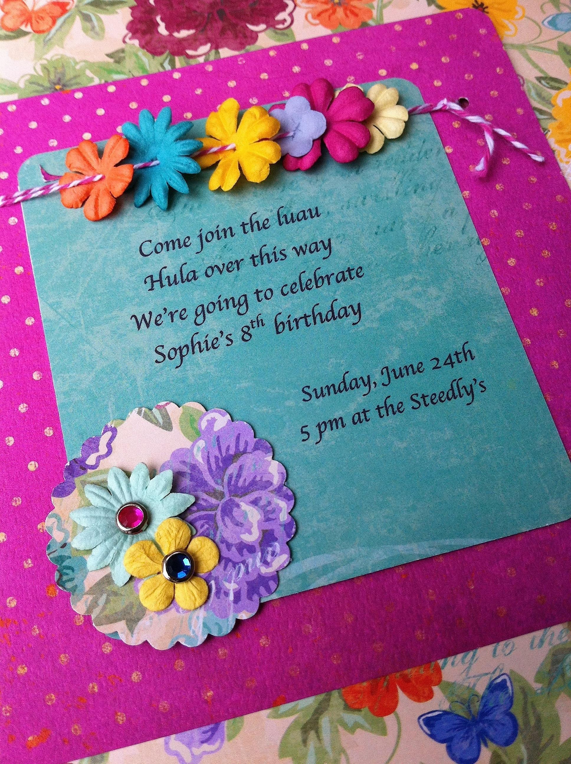 Hawaiian Party Invitation Wording for best invitations sample