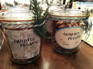 candied pecan jars
