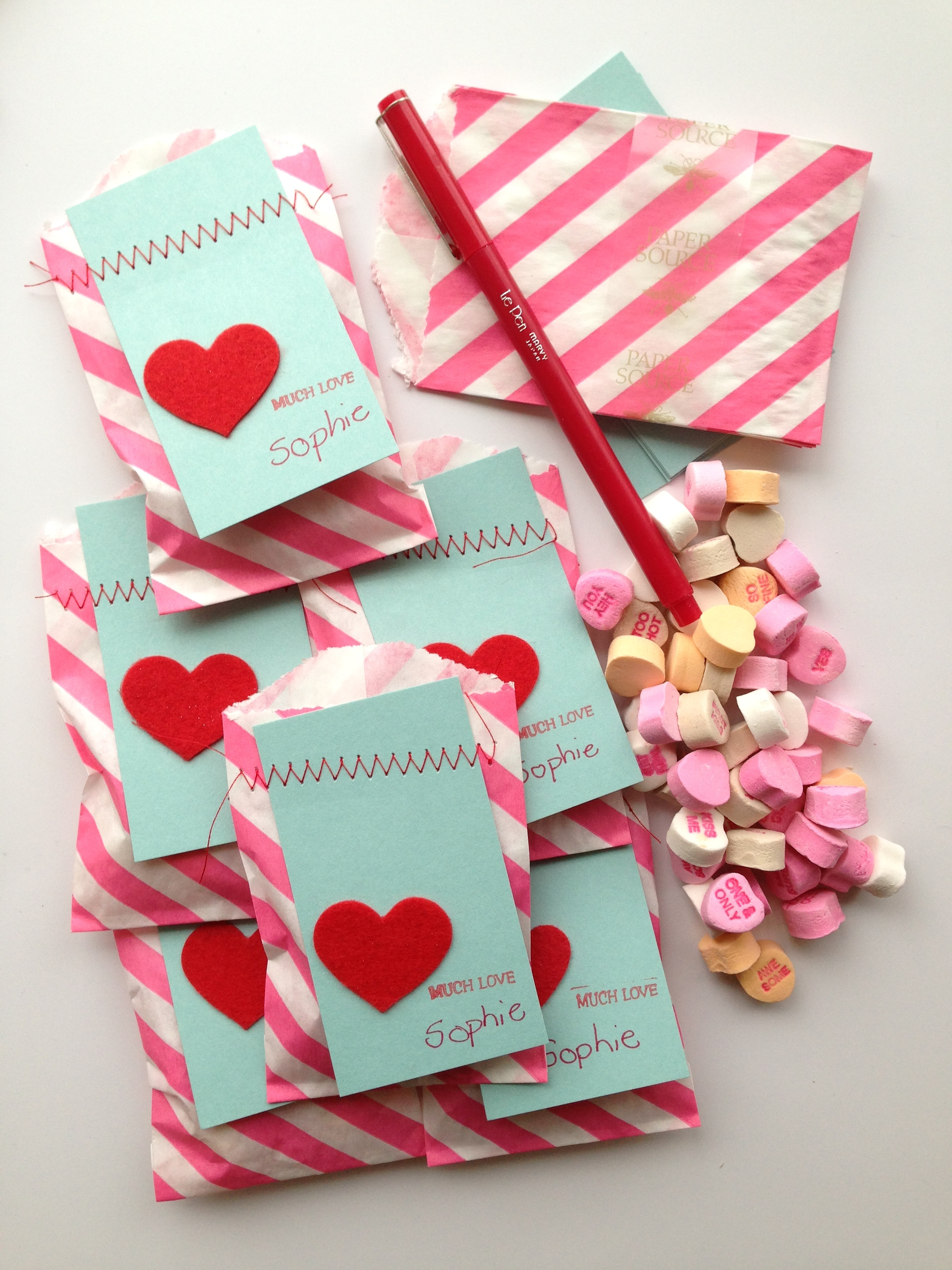 Valentine Treat Bags Little Things I Love